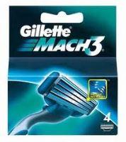 Gillette Mach3  zapasowe ostrza 4 ks Dla mężczyzn