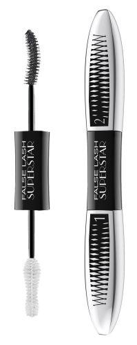 Tusz do rzęs L'Oréal Paris False Lash Superstar dla efektu podwójnych rzęs Czarny 2x6,5 ml