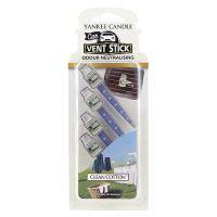Yankee Candle Car Vent Sticks Clean Cotton klamerka do samochodu 4 ks