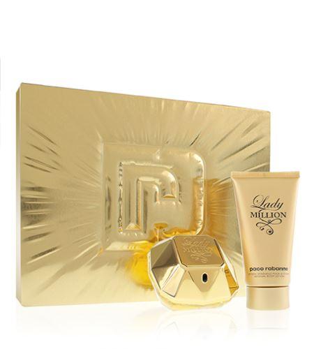 Paco Rabanne Lady Million woda perfumowana 50 ml + balsam do ciała 75 ml Zestaw upominkowy dla kobiet
