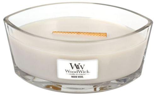 WoodWick Warm Wool świeca zapachowa z drewnianym knotem 453,6 g