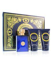 Versace Dylan Blue Pour Homme woda toaletowa dla mężczyzn 50 ml + żel pod prysznic 50 ml + balsam po goleniu 50 ml